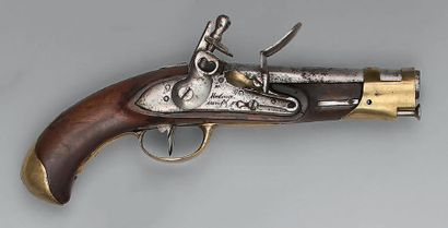 Pistolet à silex de gendarmerie maritime,...