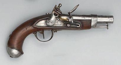 Pistolet à silex de gendarmerie modèle 1822,...
