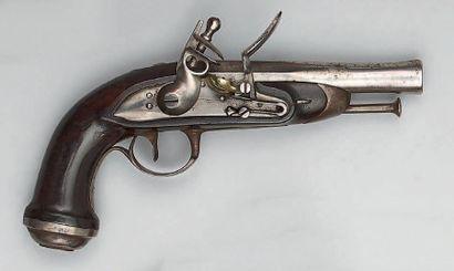 Pistolet à silex d'officier de gendarmerie...
