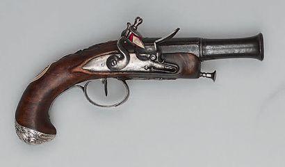 Petit pistolet à silex d'officier, canon...