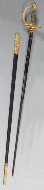 Très belle épée d'officier supérieur de type...
