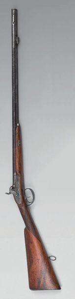 Petit fusil de chasse à percussion, double...