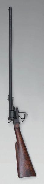 Carabine-revolver à broche système Lefaucheux,...