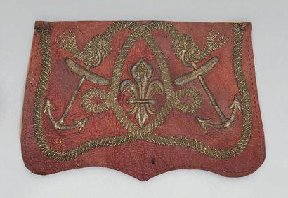 Patelette de giberne d'officier de marine ou d'infanterie de marine des colonies...