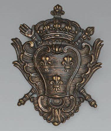 Importante plaque de giberne des gardes suisses...