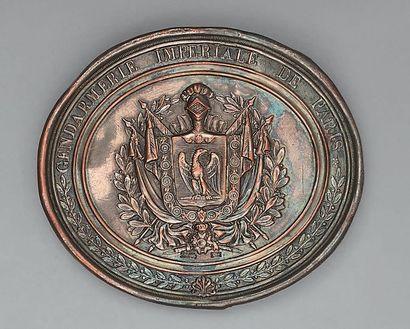 Plaque de giberne de la gendarmerie impériale...
