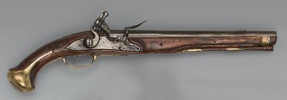 Flintlock cavalry pistol model 1733, barrel with sides and round, punched with a...