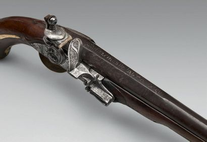 Pistolet à silex de gendarme de la Maison du Roi modèle 1763 modifié par l'ordonnance...
