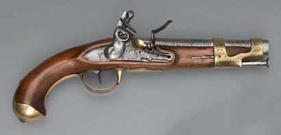 Flintlock cavalry pistol type VI/year VIII, barrel with sides and round, length...
