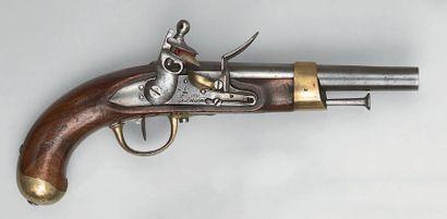 Pistolet à silex de cavalerie modèle an IX...