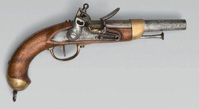 Pistolet de cavalerie à silex modèle 1816,...