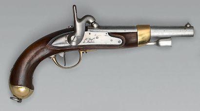 Pistolet de cavalerie à silex transformé...