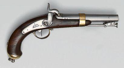 Pistolet à percussion de marine modèle 1837,...