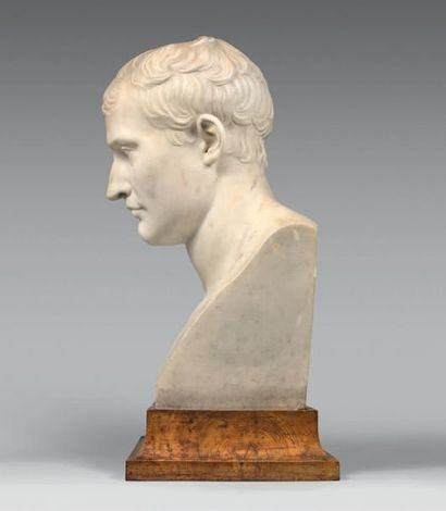Antoine-Denis Chaudet (1763/1810),d'après: Grand buste représentant l'Empereur Napoléon...