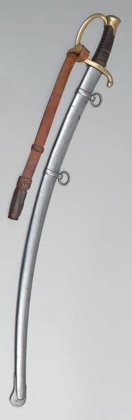 Sabre de canonnier monté modèle 1829, garde...