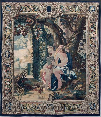 Rare tapisserie «Vénus confie à Mercure l'éducation...