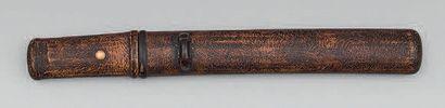 TANTO, type Aikuchi, lame de: 17 cm (Coupe papier) Epoque Showa