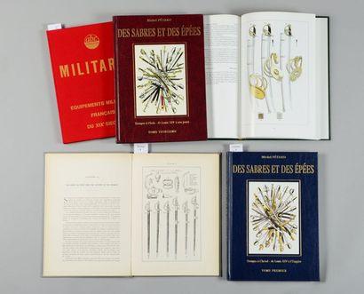 Michel Pétard: Des sabres et des épées, complet de ses trois volumes, reliure d'éditeur;...