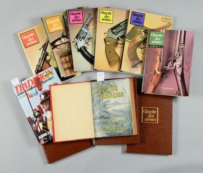 Neuf albums de la revue de la Gazette des Armes: n° 3 à 8 et trois volumes non...
