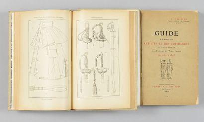 H.Malibran: Guide à l'usage des artistes et des costumiers, deux volumes reliés...