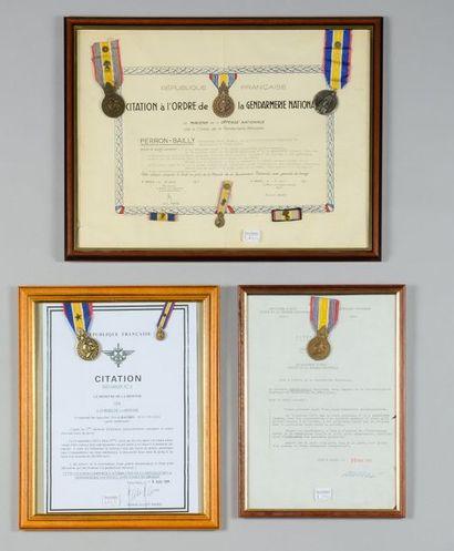Trois citations à l'ordre de la gendarmerie...