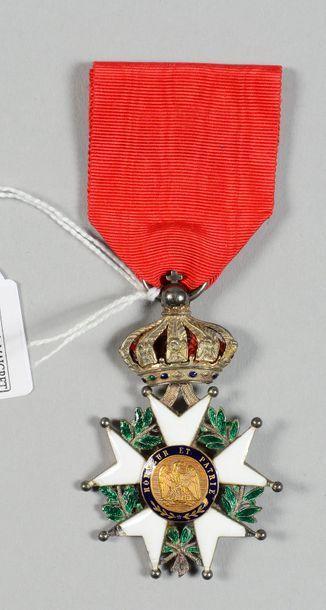 Croix de chevalier de l'ordre de la Légion d'honneur en argent, émaillée (petits...