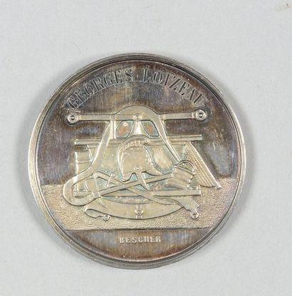 Médaille de récompense en argent, gravée...