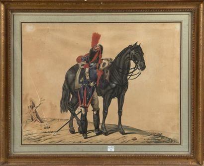 H. V. MANGOLDI ou MANGOLDT, Grenadier à cheval...