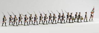 Ensemble de soldats de plomb C.B.G. – LUCOTTE...