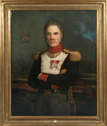 Eugène Beaudouin, huile sur toile signée...