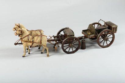 Maquette de forge de campagne avec son avant-train,...