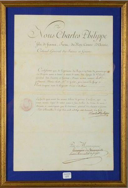 Nomination d'un porte-drapeau dans le régiment...