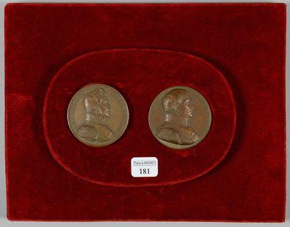 Deux médailles commémoratives du retour des...