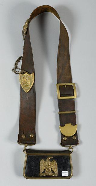 Giberne d'officier de cavalerie légère en...