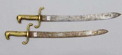 Deux sabres d'infanterie prussiens modèle...