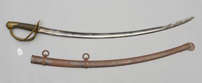 Sabre de cavalerie légère modèle 1822, lame...