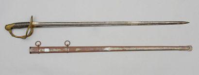 Sabre d'officier supérieur modèle 1855, monté...