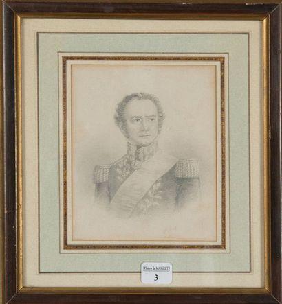 G. STAAL, dessin au crayon représentant le...
