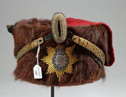 Colback de hussard saxon de la fin du XIXe,...