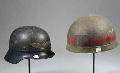 Casque allemand de la défense passive en...