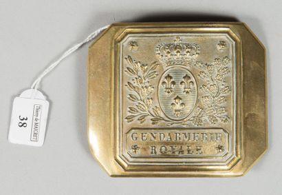 Plateau de ceinturon d'officier de gendarmerie...