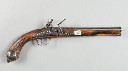 Pistolet à silex oriental, garnitures en...