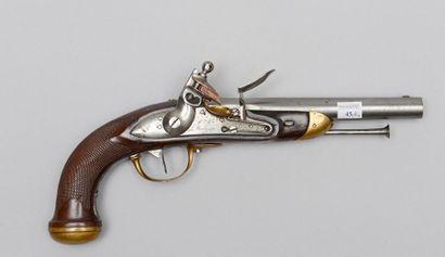 Pistolet à silex d'officier modèle 1816,...