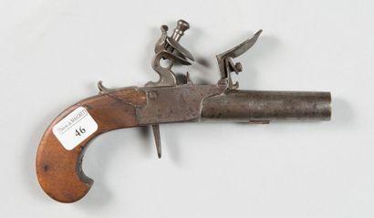 Petit pistolet coup de poing à silex, canon...