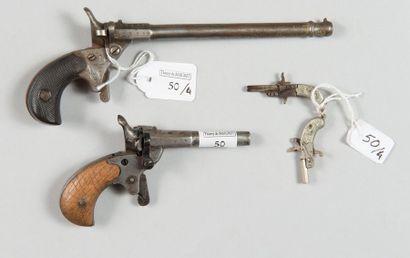 Deux pistolets de cycliste, système Flaubert,...