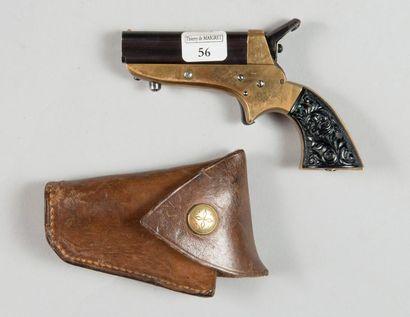 Pistolet Derringer à quatre canons coulissants,...