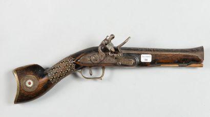Pistolet tromblon à silex, fabrication européenne...