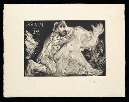 PABLO PICASSO (1881-1973) Le Cocu Magnifque Suite complète de douze eaux fortes,...