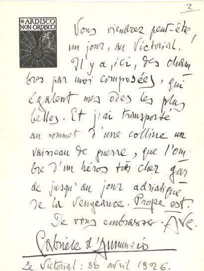 Gabriele d'ANNUNZIO (1863-1938) Écrivain italien