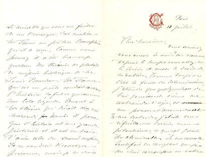 [Anatole FRANCE] Léontine Lippmann, Madame Arman de CAILLAVET (1844-1910) femme de lettres, l'égérie d'Anatole France